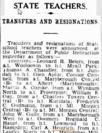 Teacher Movements 1929