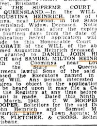 Notice of executors Augustinas Will