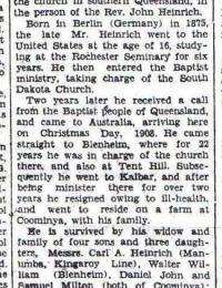 Obituary John Heinrich
