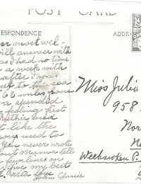 Postcard to Julia